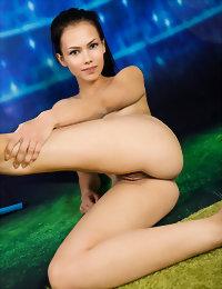 Sexy model undresses