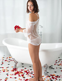 Girl taking a sexy bath