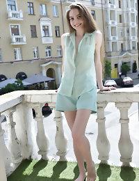 Stunning balcony girl
