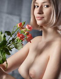 Model posing nude