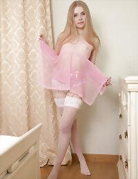 Blonde in undies