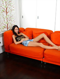 Lustful teen brunette
